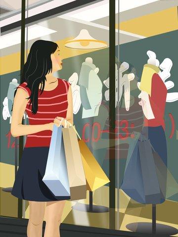 벡터 더블 12 쇼핑 축제 일러스트 레이션 삽화 이미지