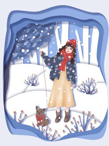 festive snow festival paper cut ilustração Material de ilustração Imagens de ilustração