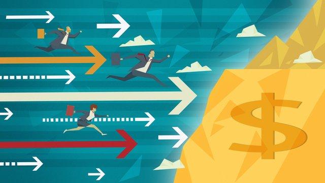 財務管理は富のプラットフォームの図に急いで イラスト素材 イラスト画像