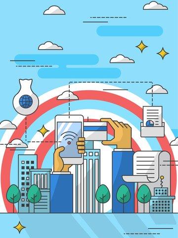 Финансовый менеджмент сети финансовых онлайн платежей иллюстрация Ресурсы иллюстрации