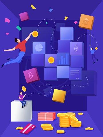 Плоская матрица финансового управления Иллюстрация изображения