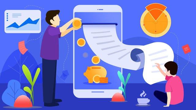 Плоские векторные иллюстрации финансовые финансы сцены Ресурсы иллюстрации