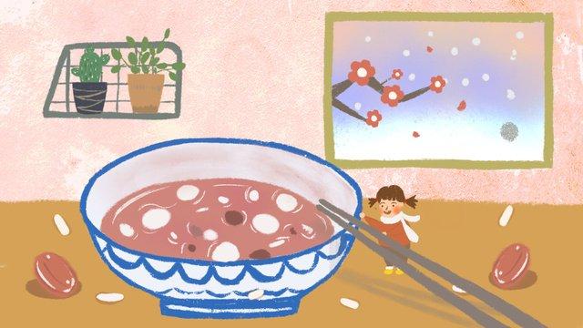 pertempuran gourmet bubur ilustrasi biji bijian imej keterlaluan