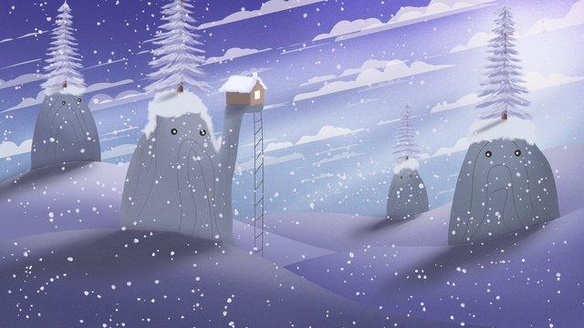 イラストポスター、mountain story、beautiful winter snow、こんにちは。 イラスト素材