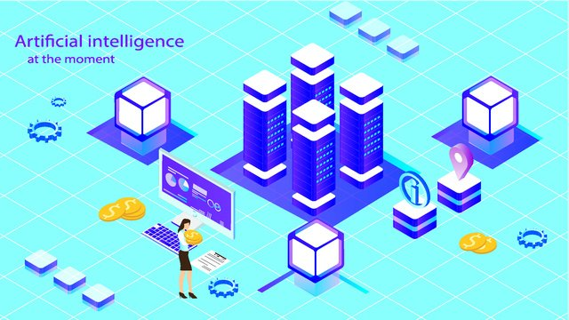 Virtual business illustration of artificial intelligence, Original, Business Office, Artificial Intelligence illustration image