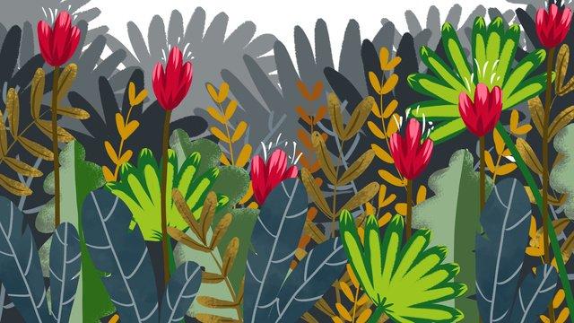 planta da floresta flor ilustração Material de ilustração