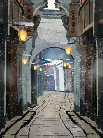 レトロ建築、古代の習慣、美しい故郷、美しい冬 イラスト素材