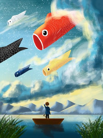 the next one for transport koi is your creative illustration illustration image