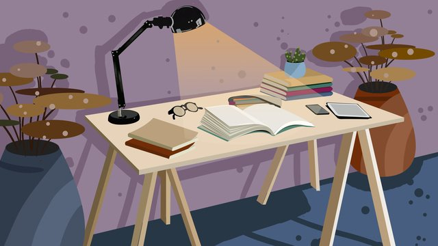business office desk night vector illustration llustration image illustration image