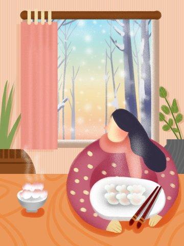 겨울 눈 홈 그림 삽화 소재 삽화 이미지