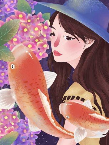 the next koi is your beautiful illustration illustration image