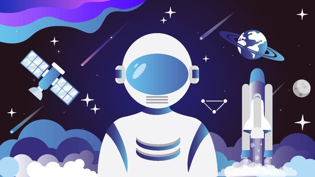 Simple creative universe adventure outer space cartoon vector illustration llustration image illustration image