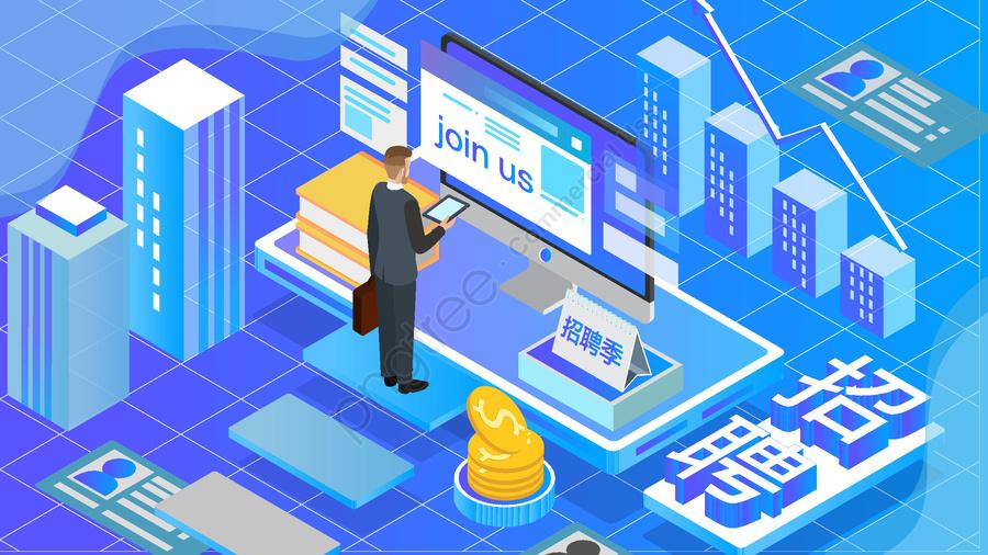 Original Commercial Illustration Wallpaper Poster Artificial Intelligence, 2 5d, Internet, Recruitment llustration image