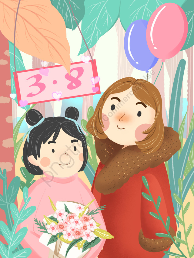Original Women S Day Women S Day Cartoon, Illustrator, Weibo, Wechat llustration image