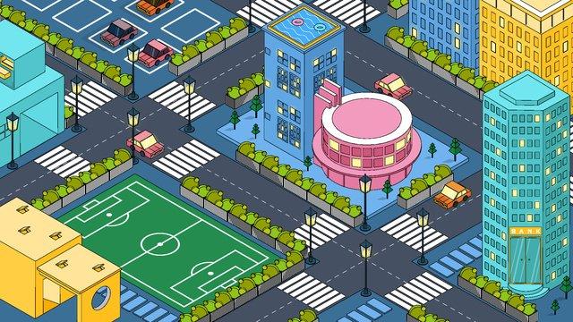 2 5d illustration city illustration original llustration image illustration image