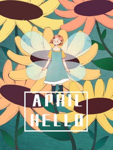 april hello flower elf flower Ресурсы иллюстрации