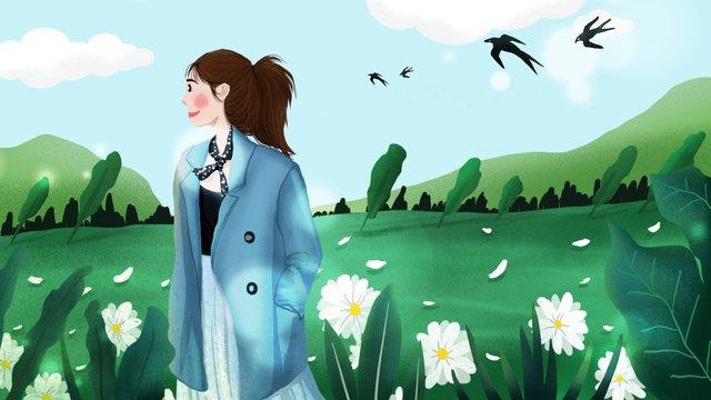 april spring spring blossoms girl ภาพ