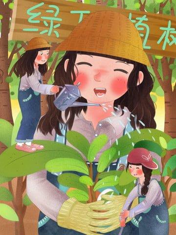 ngày trồng cây xanh bảo vệ môi trường Hình minh họa