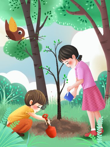arbor day trồng cây trồng chị em Hình minh họa Hình minh họa