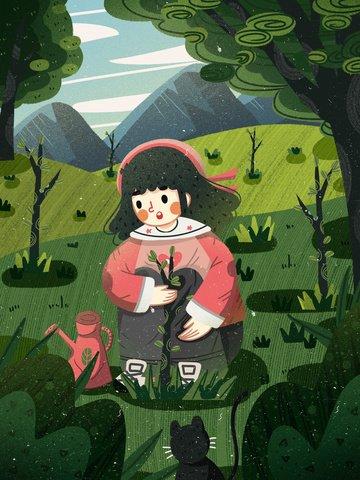 arbor day seedling green public welfare Ресурсы иллюстрации Иллюстрация изображения