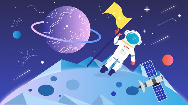 astronaut earth earth day future universe Ресурсы иллюстрации