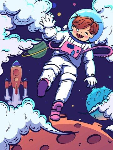 aviation aerospace day space astronaut illustration image