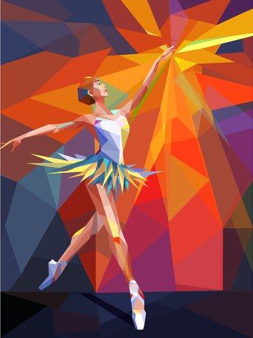 ballet girl water chestnut theme illustration dancing Material de ilustração