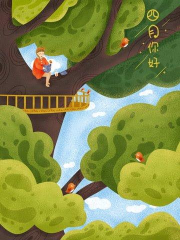 बड़ा पेड़ बड़ा बरगद का पेड़ पढ़ने की किताब खलनायक चित्रण छवि