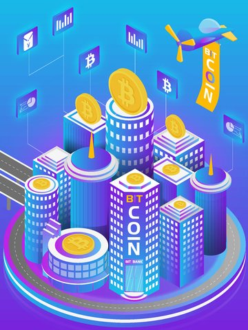 bitcoin business office 2 5d vector llustration image