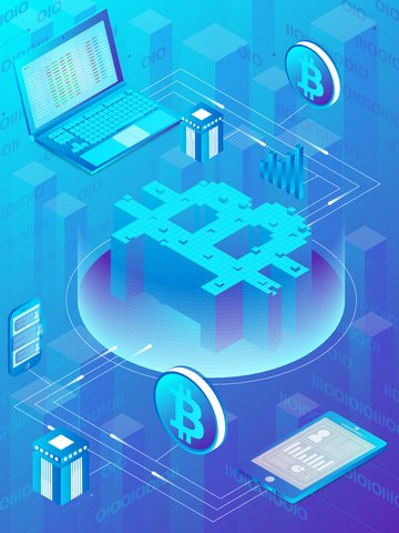 bitcoin finance business office Material de ilustração