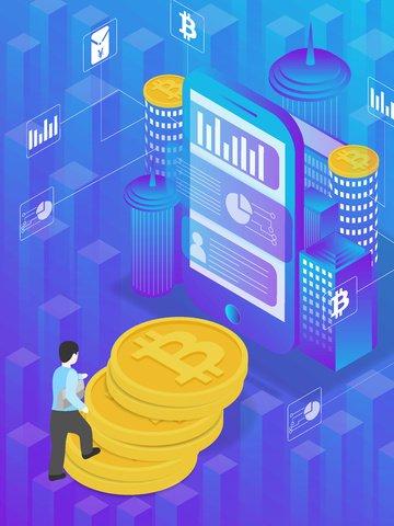 bitcoin step cellphone city Ресурсы иллюстрации