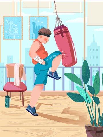 burning calories fitness scene sports Ресурсы иллюстрации