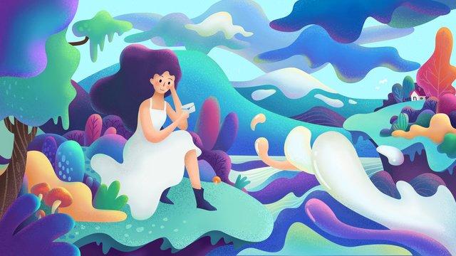 candy blue purple girl Ресурсы иллюстрации Иллюстрация изображения