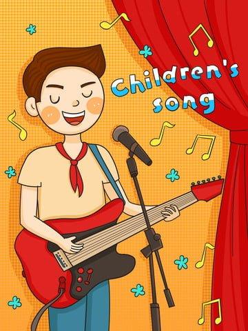 子供の歌 子供 歌 ノート イラスト素材 イラスト画像