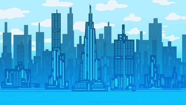 city silhouette remote illustration Ресурсы иллюстрации