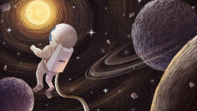 coil universe illustration with map Ресурсы иллюстрации