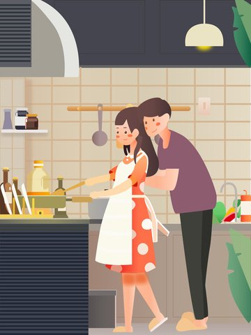 couple happiness love couple llustration image