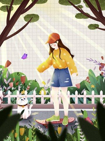 bảo vệ môi trường màu xanh lá cây du lịch phim hoạt hình Hình minh họa