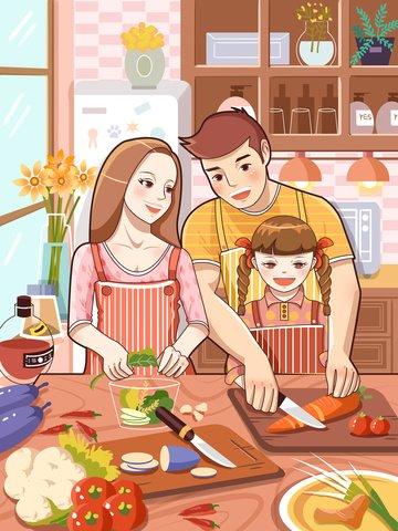 family happiness warmth small freshness Ресурсы иллюстрации
