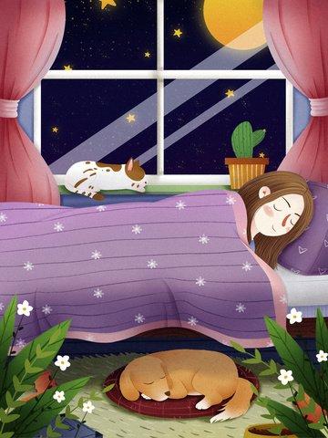 祭り 睡眠 世界 睡眠の日 イラスト素材