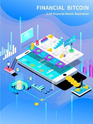 bitcoin finanziario cellulare bitcoin finanziario Immagine dell'illustrazione