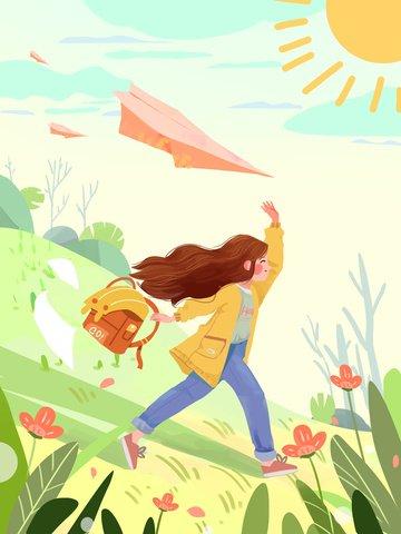 girl dream struggle inspirational Material de ilustração