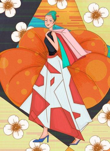 ngày của các cô gái ngày của nữ hoàng lễ hội nữ thần lễ hội mua sắm tmall Hình minh họa