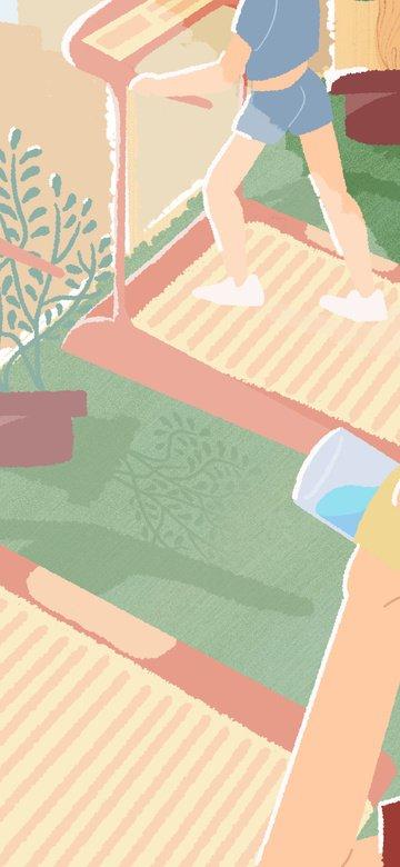 gym exercise running exercise Imagens de ilustração