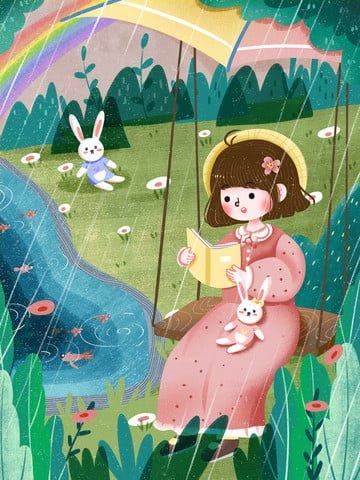 chào tháng tư trời trong mưa mưa nhẹ Hình minh họa Hình minh họa