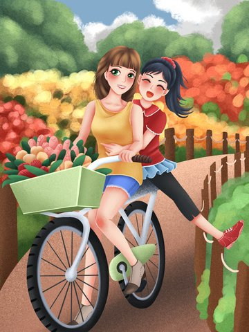 hello april hello april flower sea bicycle ภาพ