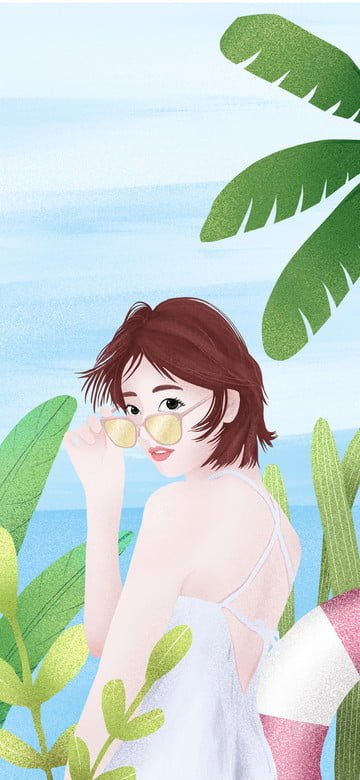 illustration summer small fresh seaside Ресурсы иллюстрации