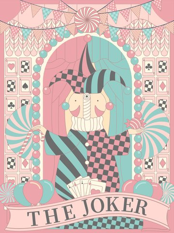 linear horizon clown card poker Ресурсы иллюстрации