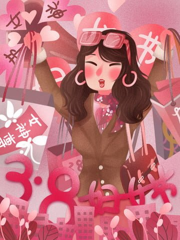 march 8 women s day goddess day shopping urban illustration image