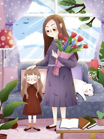 march 8 women s day little girl girl child illustration image